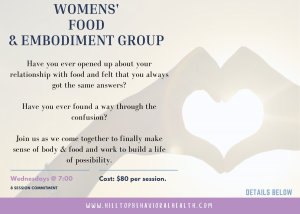 Womens Eating Disorder and Body Image Group
